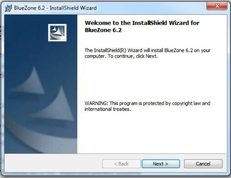 emulator software v6.2  Seagull.saf activation file BlueZone Installation The software and its associated