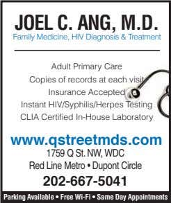 Joel C. Ang, M.D. Family Medicine, HIV Diagnosis & Treatment Adult Primary Care Copies of
