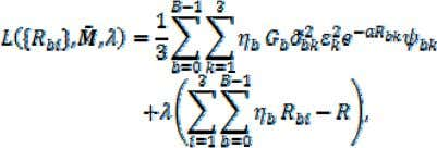 the following Lagrangian ( is the Lagrange multiplier): (25) which is minimized by the optimal rates