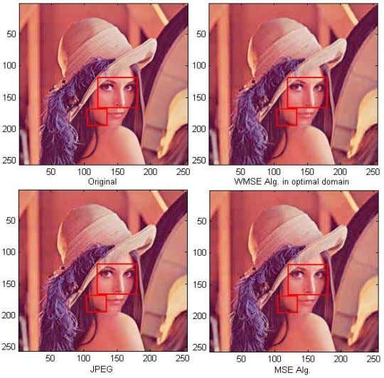 to the eye. Yet both algorithms are superior to JPEG. FIG. 1 COMPRESSION RESULTS FOR LENA