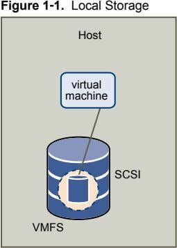 Figure 1‑1. Local Storage Host virtual machine SCSI VMFS