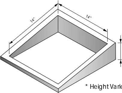 * Height Varies To Make Unit Level Figure 5