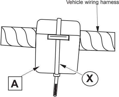 Vehicle wiring harness X A