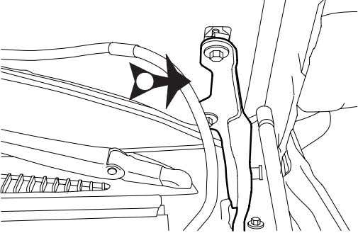 Locate an easy to access area near the drivers side hood hinge.