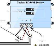 Typical EC-BOS Device EOL ON - + S Electrical