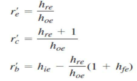 2- The h- parameters  Relationship of h- parameters and r- parameters