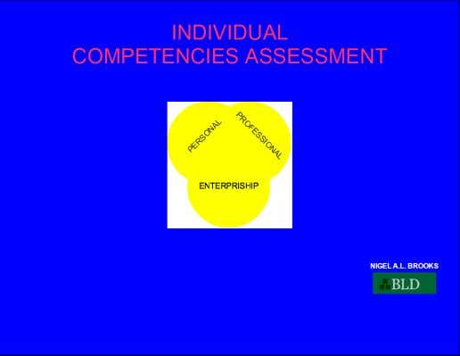 in thirty minutes or less, claim your opportunity for instant access when you go to www.individualcompetencies.com