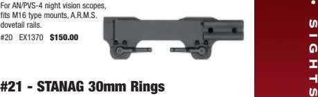 • SIGHTS For AN/PVS-4 night vision scopes, fits M16 type mounts, A.R.M.S. dovetail rails. #20