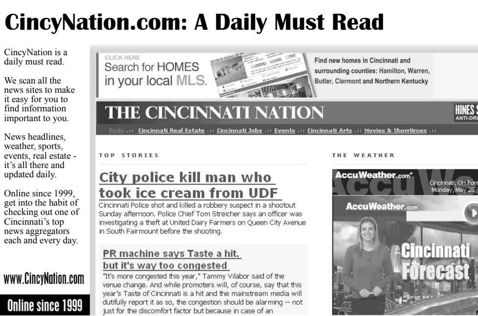 CincyNation.com: A Daily Must Read CincyNation is a daily must read. We scan all the