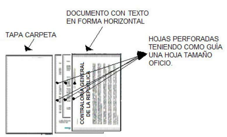 Grafico 4. Perforación de documentos. • Agrupar los documentos dentro de la carpeta con un