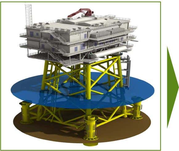 Offshore substation Illustration Supply: Foundation - JV Fabricom & Iemants NV Switchgear - Alstom Transformers -