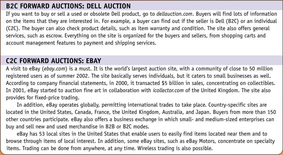 B2C FORWARD AUCTIONS: DELL AUCTION If you want to buy or sell a used or