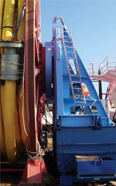 MSc SUBSEA ENGINERING NAME: TEICA FLORIAN TEICA Figure 6.2.4 Reel Mounted Between Towers (Drive Side)