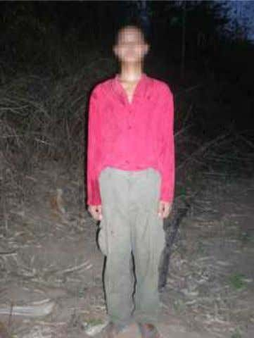 Burma Army is shown here in February 2009. [Photo: KHRG] 18-year-old Maung C--- who deserted from