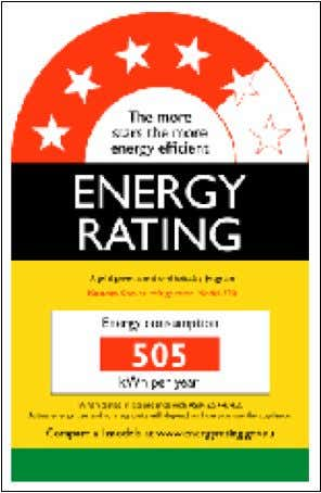 australiana. (EQUIPMENT ENERGY EFFICIENCY COMMITTEE, 2009) Figura 14: Energy Rating – Etiqueta de eficiência