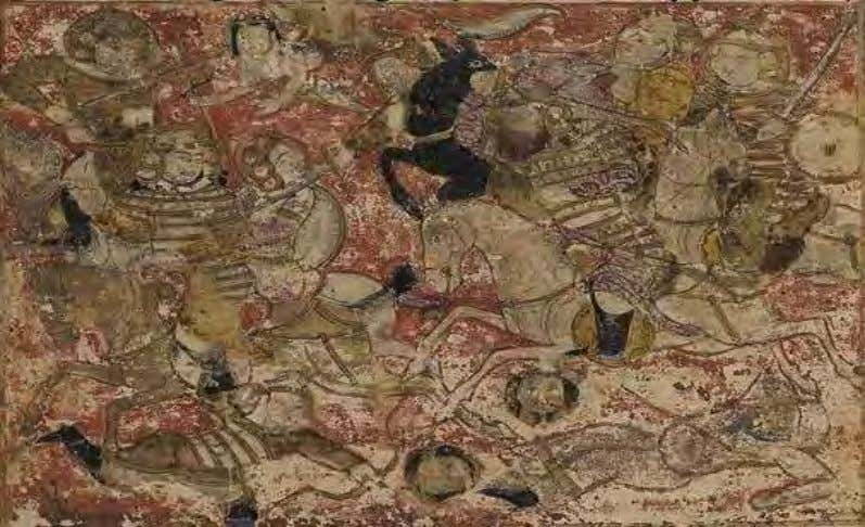 of these wars were Khawarij and crumbling Byzantine Empire. Bloodshed at battle of Saffin as depicted