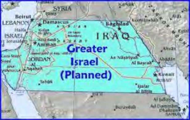 "and America, Israel and UK seem to do nothing about it. ""Greater Israel"" – as per"