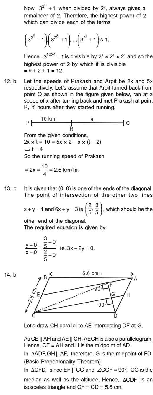 The point of intersection of the other two lines speed of x after turning back and