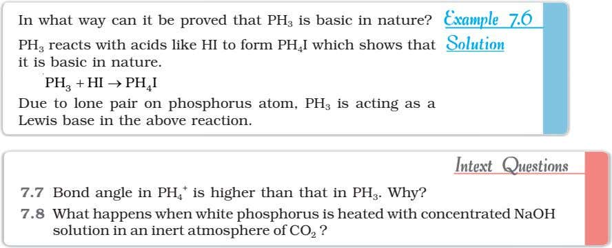 In what way can it be proved that PH 3 is basic in nature? ExampleExampleExampleExampleExample
