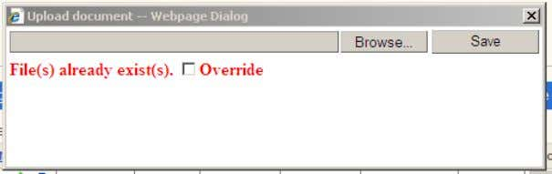 "win dow will appear asking you to confirm your action: Please mark the ""Override"" option and"