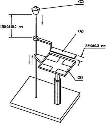 on the blade receiver to retain powder while elevator stand FIG. 2 Carr Spatula Assembly D