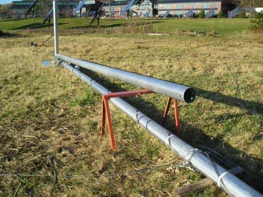Assemble the Gin Pole Layout the ginpole tubes Identify the ginpole and helper ginpole tubes and
