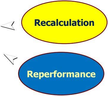 Recalculation Reperformance