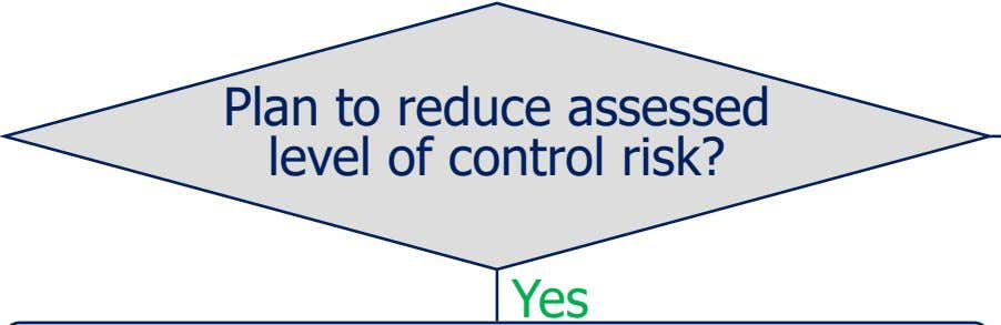 Plan to reduce assessed level of control risk? Yes