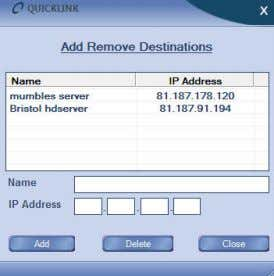 any live broadcast, you must specify a server address. Go to Settings> Add Remove Destinations on