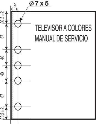 77 xx 55 9 TELEVISOR A COLORES MANUAL DE SERVICIO 2 26733.2 4067 40 30.5