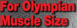 For Olympian Muscle Size