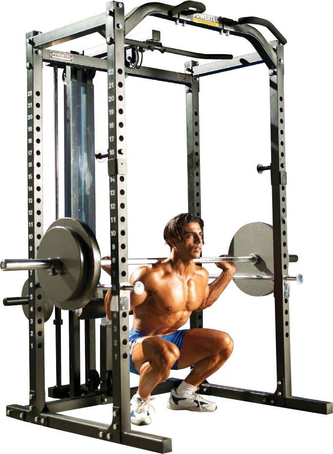 ANY TIME Pack On All the Rock-Hard Muscle You Want At Home! Powertec Power Rack -