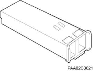 an optical module. Figure 2-5 Exterior of an optical module Label on an optical module There