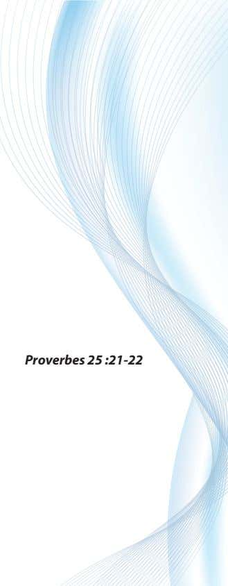 Proverbes 25 :21-22