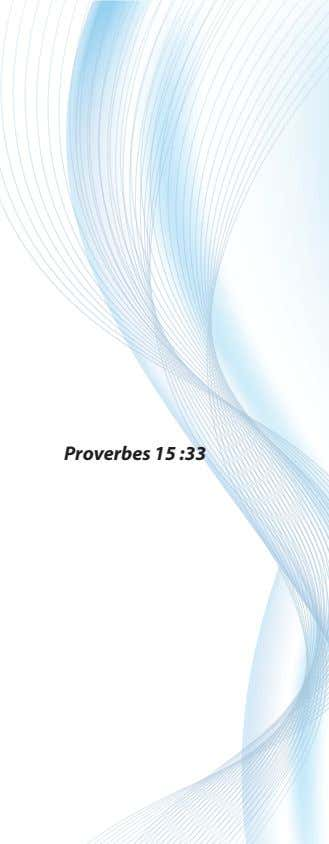Proverbes 15 :33