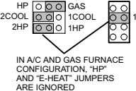 "HP GAS 2COOL 1COOL 1 2HP 1HP IN A/C AND GAS FURNACE CONFIGURATION, HP"" AND"