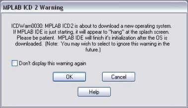 to debugger • Acknowledge the download warning with [OK] Figure 43: Download warning • Output if