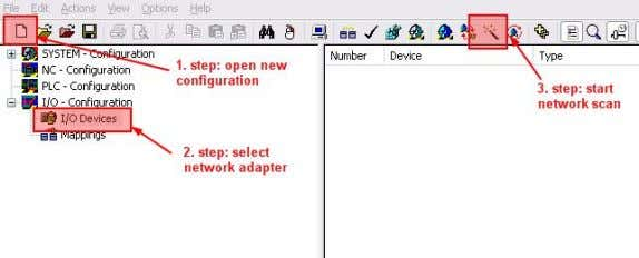 and scan the network for new devices ( Figure 4 ). Figure 4: Scan for new