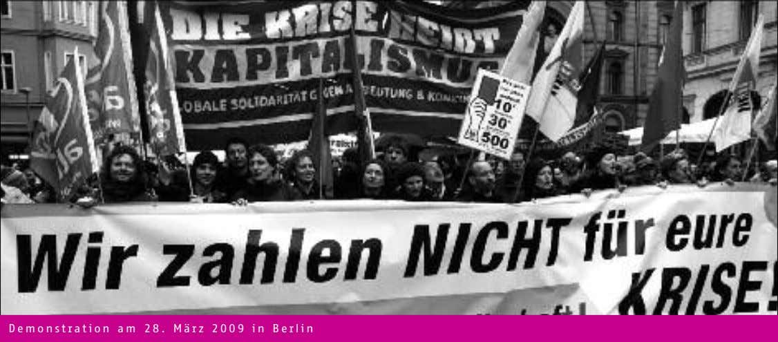 Demonstration am 28. März 2009 in Berlin