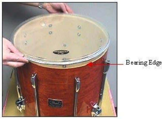 head), but if you can't tell it doesn't matter. Stand the floor tom shell vertically with