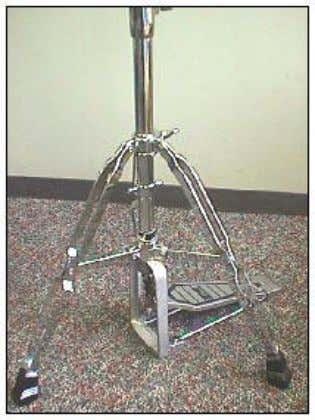 Extend the legs to form a stable tripod with the hi-hat frame just touching the