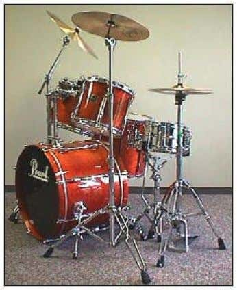 hi-hats have swivel legs. Step 10: The Completed Drum Set Arrange your set to look like