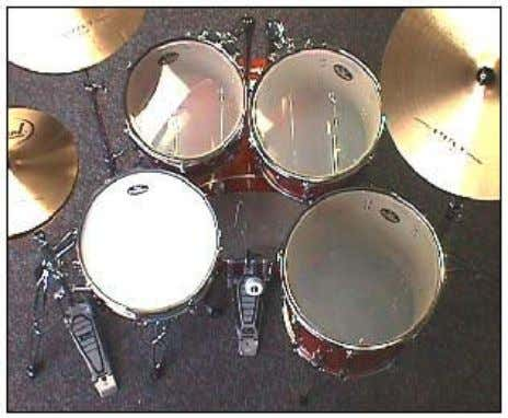 the hi-hat cymbals so that they can be reached comfortably. Adjust the height, tilt, and closeness