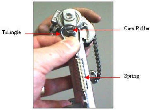 The pedal is shipped without the spring and beater attached. To attach the spring, pull the