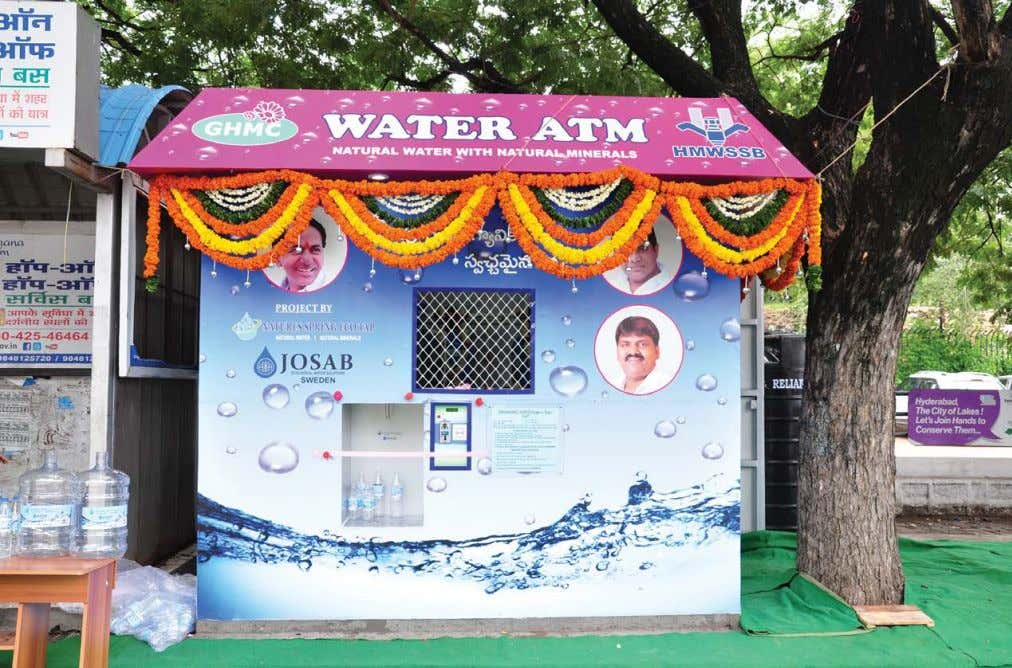 COVER STORY WATER PURIFICATION & TREATMENT BUSINESS Hyderabad Water ATM Kiosk - Outer View even the