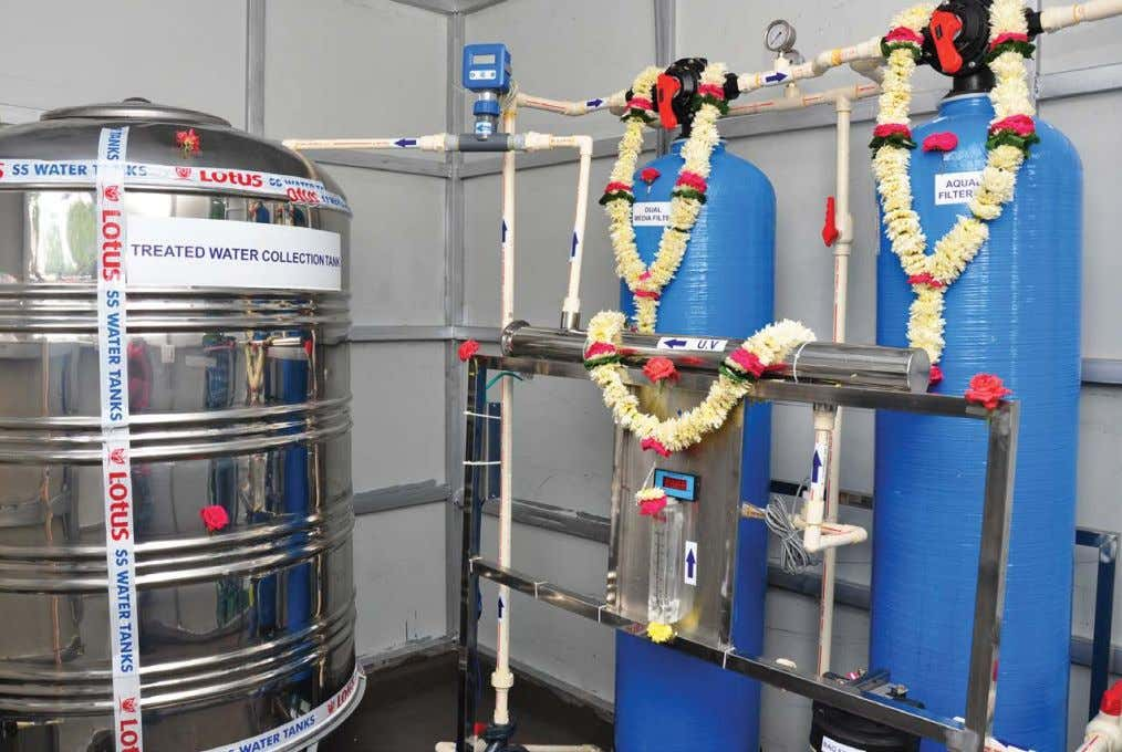 COVER STORY WATER PURIFICATION & TREATMENT BUSINESS Hyderabad Water ATM - Inner View an on-the-shelf product