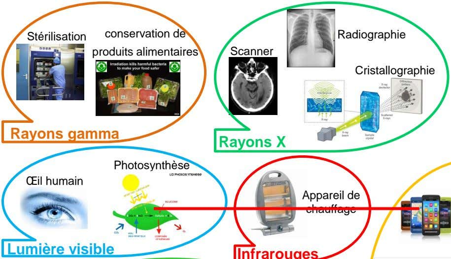 conservation de Stérilisation Radiographie produits alimentaires Scanner Cristallographie Rayons gamma Rayons X