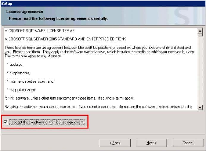 "the license agreement and click ""Next"". Figure 2-4 14. Accept the system settings and click ""Next""."