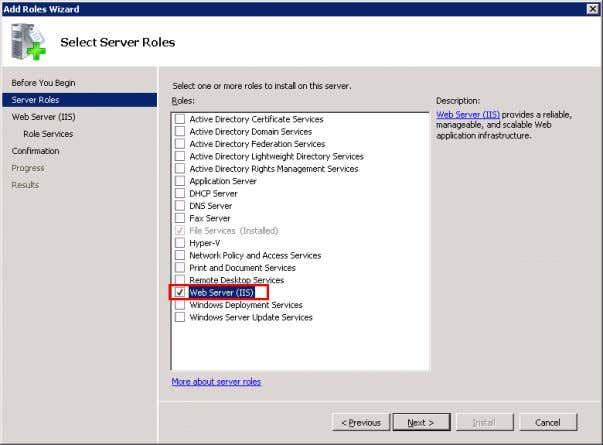"Roles Wizard"" and check ""Web Server (IIS)"". Figure 3-5 Installing and Commissioning of PH/IS V 1.2,"