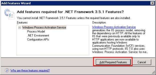 "the button ""Add Required Features"". Figure 3-9   5. Click on ""Next"".   6. Click on"